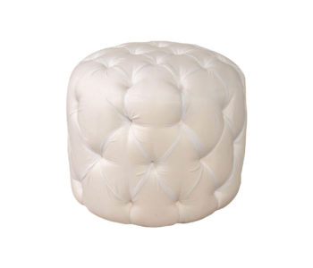 Boho Upholstered Round Tufted Pouf