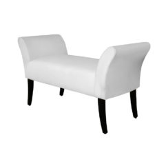 Nelson Upholstered Bench with Arms Side View