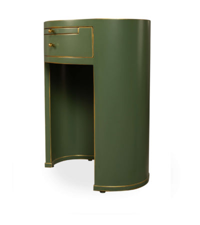 Rosa Bedside Table Green Side View