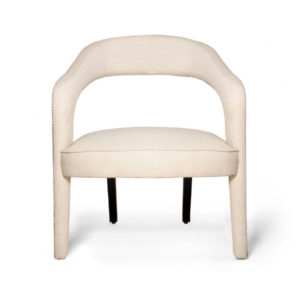 Archy Upholstered Round Back Arm Chair