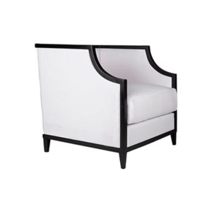 Bonaldo Upholstered Wooden Frame Padded Armchair Beside View