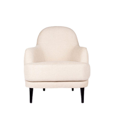Declan Upholstered Highback Off White Armchair