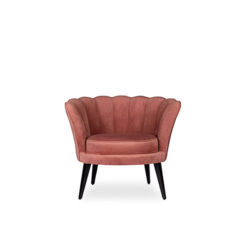 Flower Upholstered Blush Accent Chair