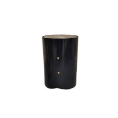Kitel Black Round Marble Topped Side Table