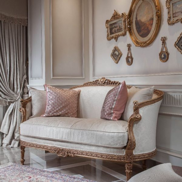 Vintage French Themed Living Room