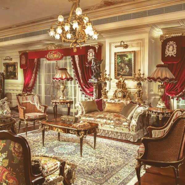 victorian themed living room