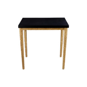 Amoir Black Modern Side Table With Golden Legs