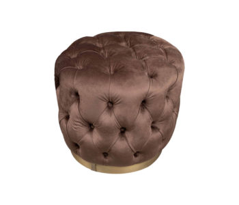 Boho Pouffe View - Brown