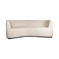 Julson Upholstered Curved Beige Fabric Sofa