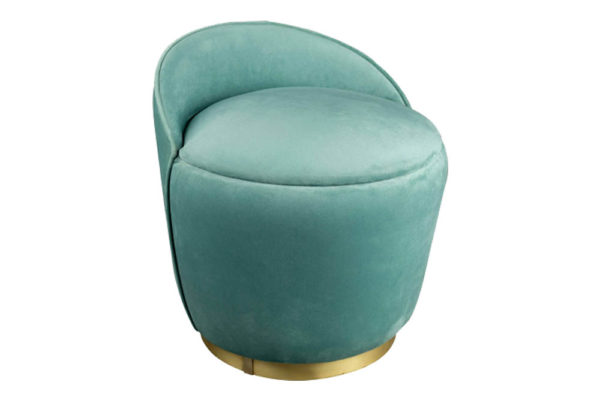 Lovy Pouf Side View - Turquoise