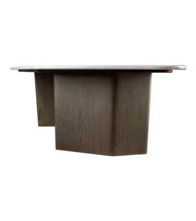 Olney Wooden With Gray Marble Coffee Table Right View