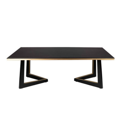 Rion-Dark-Brown-Wood-and-Brass-Coffee-Table