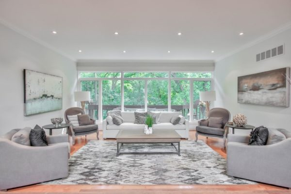 elegant living room with Square Coffee Tables UK
