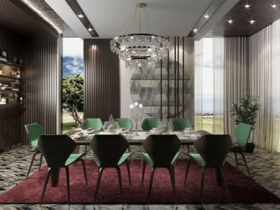 luxury dining room chair and table